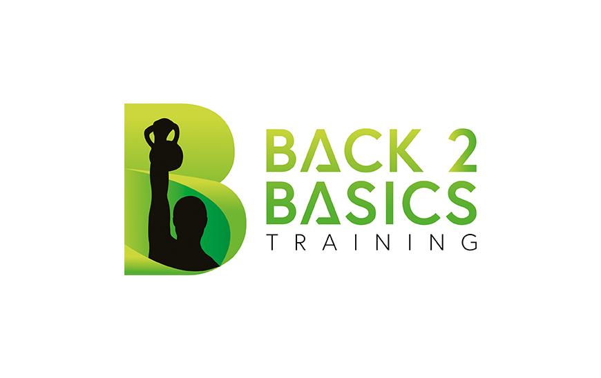 Back 2 basics logo white